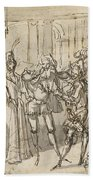 A Performance By The Commedia Dell'arte Bath Towel