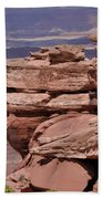 A Pile Of Rocks Hand Towel by Frank Madia