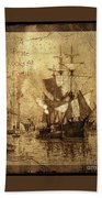 A Pirate Looks At Forty Schooner Wharf Bath Towel