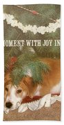 A Puppy For Christmas Quote Bath Sheet