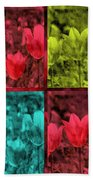 A Quadruple Of Tulips Bath Towel
