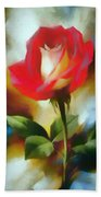 A Red Rose For Amelia Hand Towel