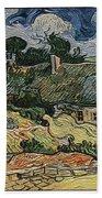 a replica of the landscape of Van Gogh Bath Towel