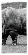 A Rhinoceros Bath Towel