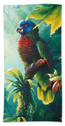 A Shady Spot - St. Lucia Parrot Bath Towel