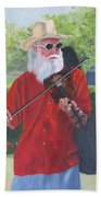 A Slim Fiddler For Peace Bath Towel