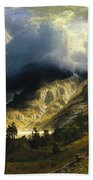 A Storm In The Rocky Mountains Mt. Rosalie, 1866 Bath Towel