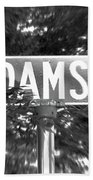 Ad - A Street Sign Named Adams Bath Towel