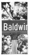 Ba - A Street Sign Named Baldwin Bath Towel