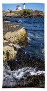 A Summer's Day At Nubble Light, York, Maine  -67969 Bath Towel