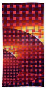 A Sunset In Weave Bath Towel