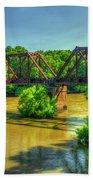 A Time Gone By Railroad Bridge Lumber City Georgia Bath Towel