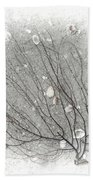 A Tree On The Beach #2 - Seaweed And Shells Bath Towel