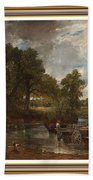 A Tribute To John Constable Catus 1 No. 1 -the Hay Wain L B With Alt. Decorative Ornate Frame. Bath Towel