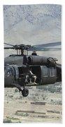 A Uh-60 Blackhawk Helicopter Bath Towel
