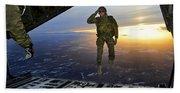 A U.s. Soldier Salutes His Fellow Bath Towel