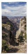 A Vertical View - Grand Canyon Bath Towel