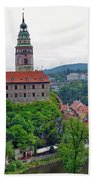 A View Of The Cesky Kromluv Castle Complex In The Czech Republic Hand Towel