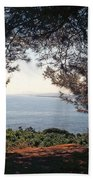 A View To The Sea Hand Towel