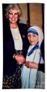 A Vist With Mother Teresa Bath Towel