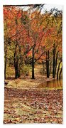 A Walk Through Autumn  Bath Towel