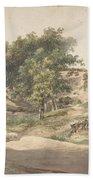 A Wooded Landscape Near Beekhuizen Bath Towel