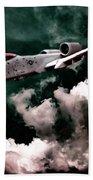 A10 Thunderbolt In Flight Bath Towel