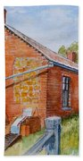 Abandoned Red Brick Cottage Near Maldon Bath Towel