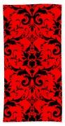 Abby Damask In Black Pattern 02-p0113 Bath Towel