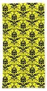 Abby Damask In Black Pattern 05-p0113 Bath Towel