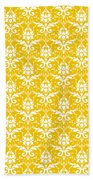 Abby Damask In White Pattern 05-p0113 Bath Towel