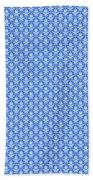 Abby Damask In White Pattern 18-p0113 Bath Towel