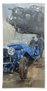 Able Mable And The Blue Lagonda  Hand Towel
