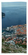 Above Dubrovnik - Croatia Bath Towel