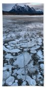Abraham Lake Ice Bubbles Bath Towel