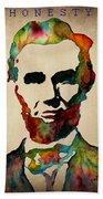 Abraham Lincoln Leader Qualities Bath Towel