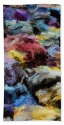 Abstract 133 Digital Oil Painting On Canvas Full Of Texture And Brig Hand Towel