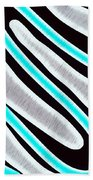 Abstract 35 Silver Blue Turquoise Bath Towel