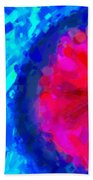 Abstract Art Combination - The Pink Martian Crater, Ca 2017, By Adam Asar ,  In 3d Watercolor Bath Towel