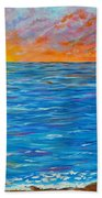 Abstract Art- Flaming Ocean Bath Towel