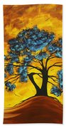 Abstract Art Original Landscape Painting Dreaming In Color By Madartmadart Bath Towel