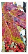 Abstract Autumn Leaf 2 Bath Towel