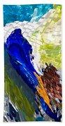 Abstract Bird Bath Towel
