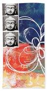Abstract Buddha Bath Towel by Linda Woods