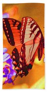 Abstract Butterfly Bath Towel