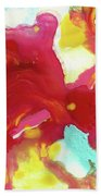 Abstract Butterfly Floral Bath Towel