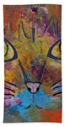 Abstract Cat Meow Bath Towel