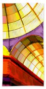 Abstract Cathedral Color Wheel Bath Towel