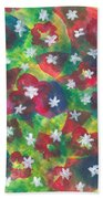 Abstract Circles With Flowers Bath Towel