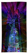 Abstract City In Purple Hand Towel